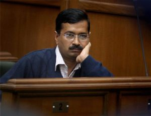 New Delhi : Delhi Chief Minister Arvind Kejriwal at a special session of the Delhi Assembly in New Delhi on Friday. PTI Photo by Atul Yadav(PTI2_14_2014_000177A)