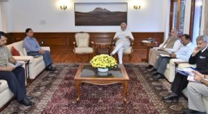 New Delhi: Prime Minister Narendra Modi chairing the meeting on Indus Water Treaty, in New Delhi on Sep 26, 2016. (Photo: IANS/PIB)
